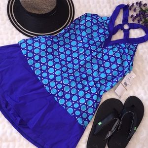 Jantzen 2PC Cross Back Tankini Skirt Swimsuit Set